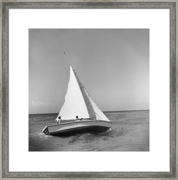 Jamaica Sea Sailing Framed Print by Slim Aarons