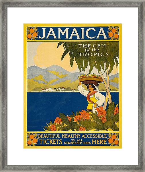 Jamaica Travel Poster Framed Print