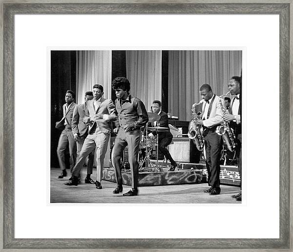 James Brown And Famous Flames At The Framed Print