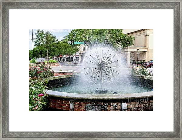 James Brown Blvd Fountain - Augusta Ga Framed Print
