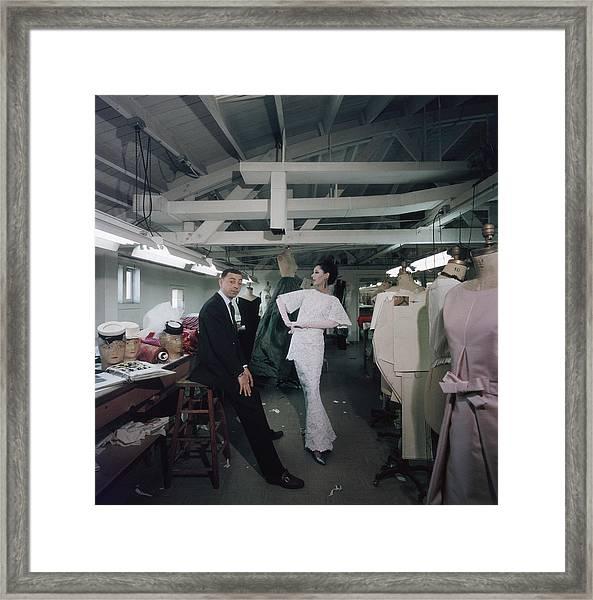 James Galanos Framed Print by Slim Aarons