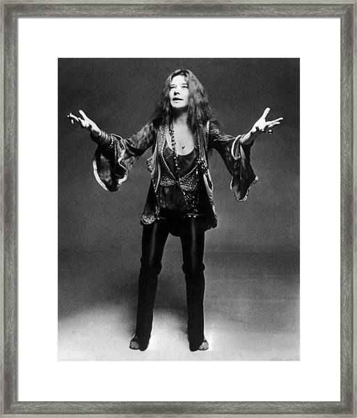 Janis Joplin 1966-1970 Framed Print by Keystone-france