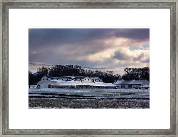January Dusting Framed Print