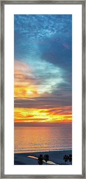 January Sunset - Vertirama Framed Print