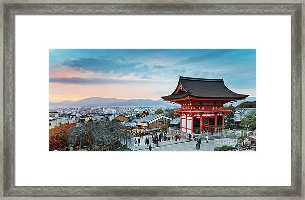 Japan - Kyoto. Kiyomizu Temple Framed Print by Kanuman