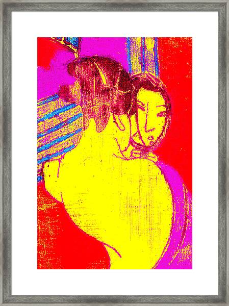 Japanese Pop Art Print 1 Framed Print