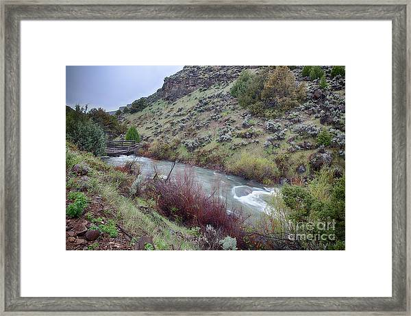 Jarbidge River Bridge Framed Print