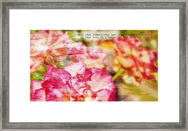 Jean 13-35 Disciples Framed Print
