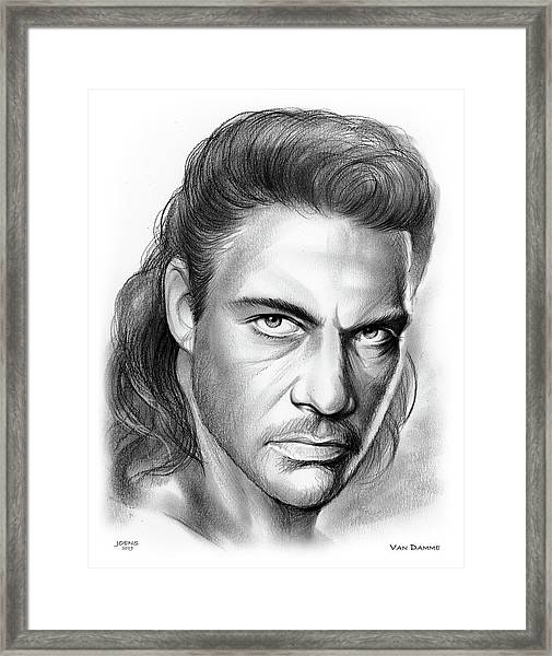 Jean-claude Van Damme Framed Print
