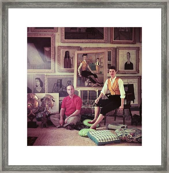 Jean Negulesco Framed Print by Slim Aarons