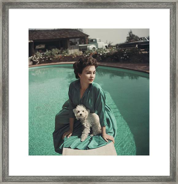 Jean Simmons Framed Print