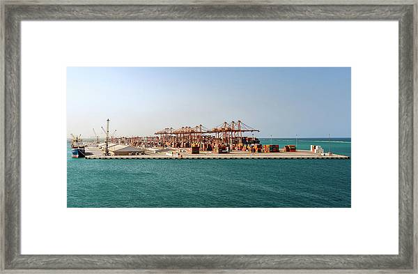 Framed Print featuring the photograph Jeddah Seaport by William Dickman