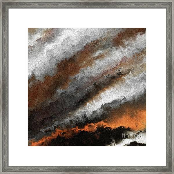 Jeremiah 20 9 Fire In My Heart Framed Print