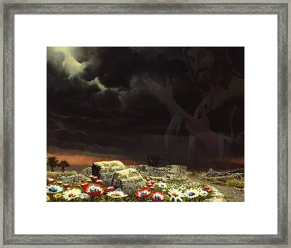 Jesus And His Jewels Framed Print