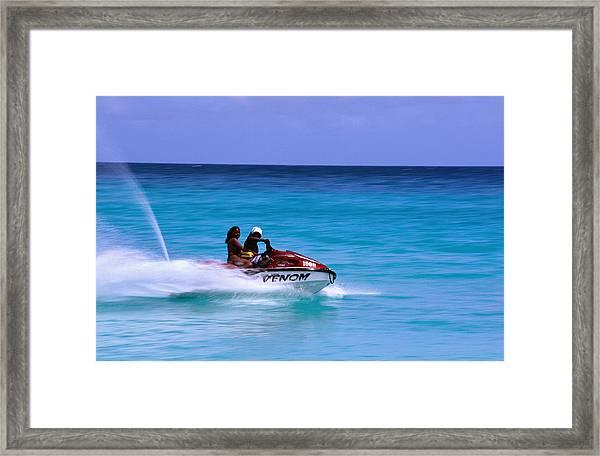 Jetskiing, Dover Beach Framed Print
