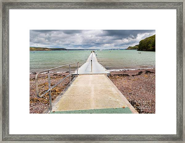 Jetty At Dale  A Small Village On The Framed Print