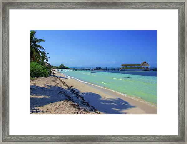 Jetty On Isla Contoy Framed Print
