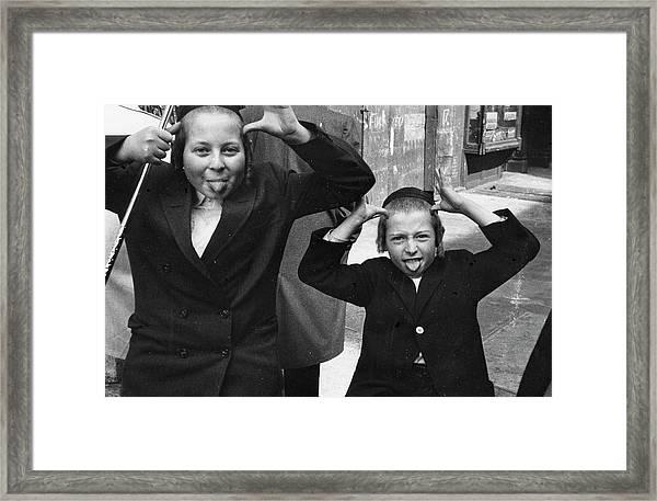 Jewish Boys On East 10th Framed Print