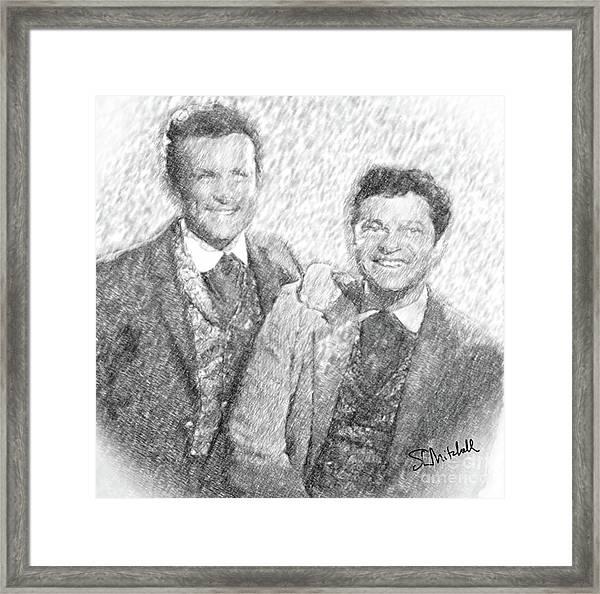 Jim And Artimus Framed Print