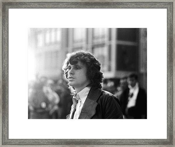 Jim Morrison Framed Print by Michael Ochs Archives