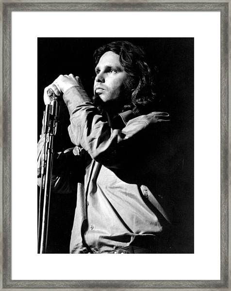 Jim Morrison Framed Print by Tom Copi