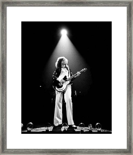 Jimmy Page Live Framed Print