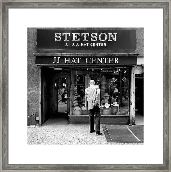 Jj Hat Center Framed Print