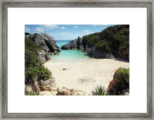 Jobsons Cove Beach, Bermuda Framed Print