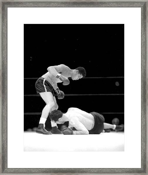 Joe Louis Versus Max Schmeling II, 2 Framed Print