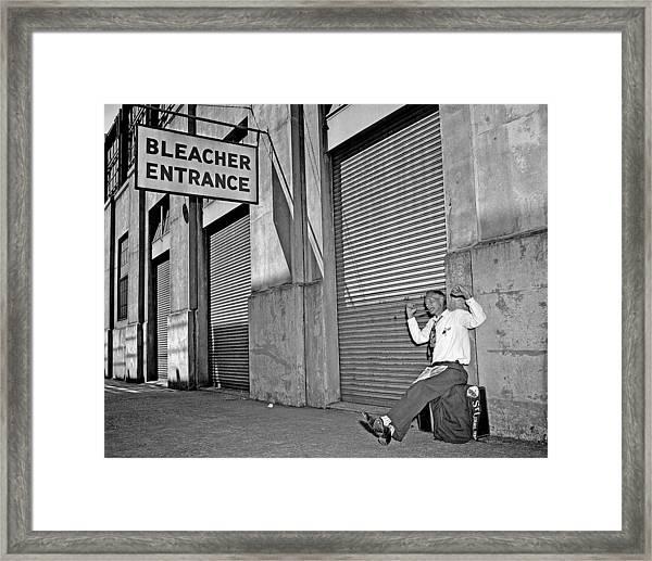 Joe Prine Makes Sure He Gets Into The Framed Print