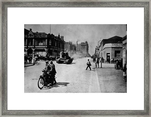 Johannesburg Riot Framed Print