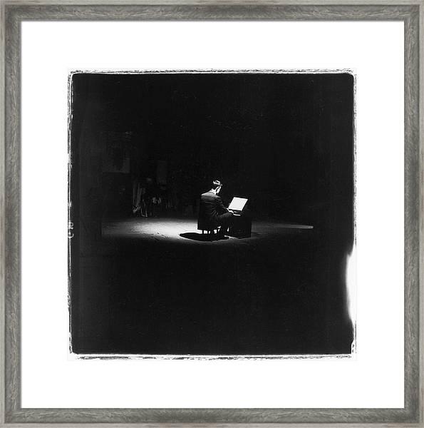 John Cage Performs Framed Print