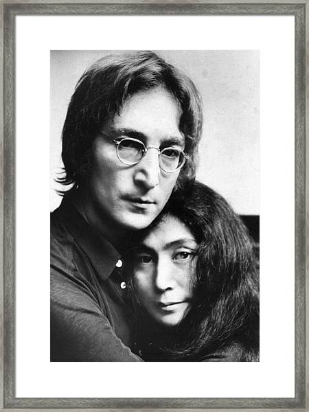 John Lennon And Yoko Ono Framed Print