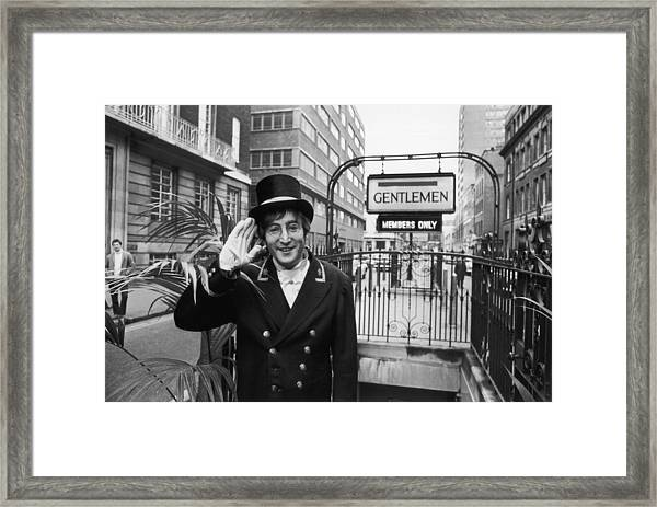 John Lennon Framed Print by Ron Case