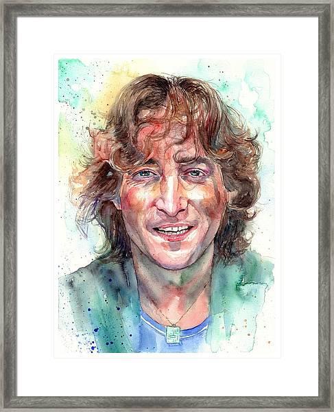 John Lennon Smiling Framed Print