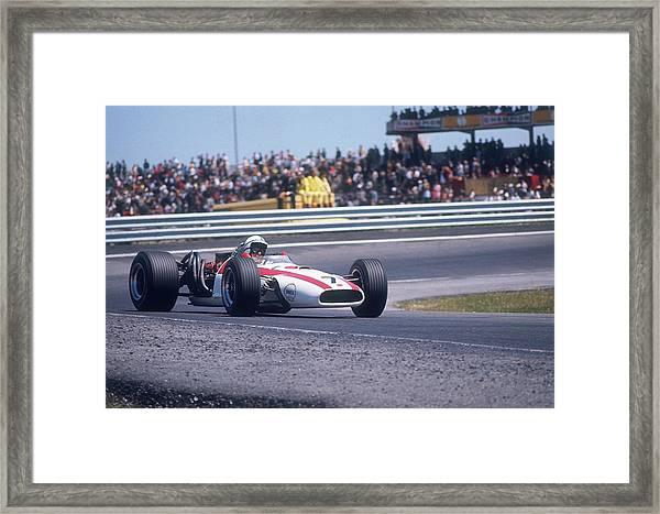 John Surtees Driving A Honda, Spanish Framed Print