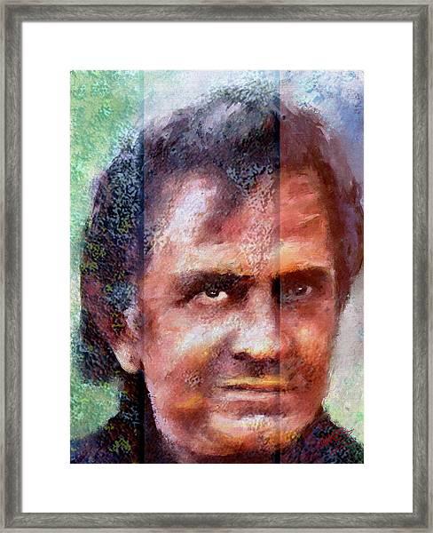 Johnny Cash Artwork Framed Print