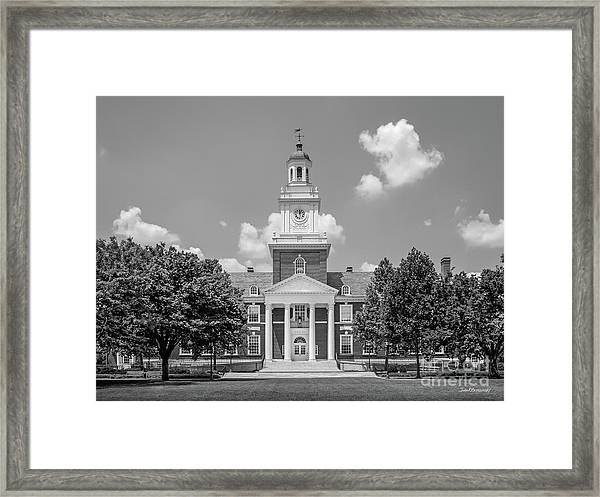 Johns Hopkins Gilman Hall Framed Print