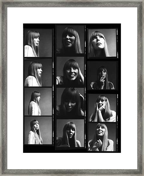 Joni Mitchell Contact Sheet Framed Print