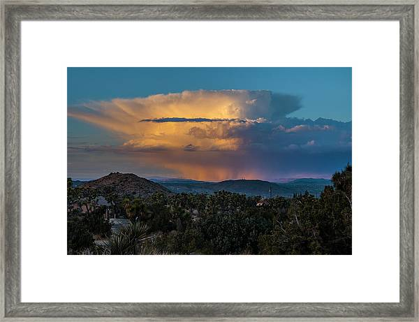 Joshua Tree Thunderhead Framed Print