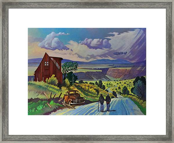 Journey Along The Road To Infinity Framed Print