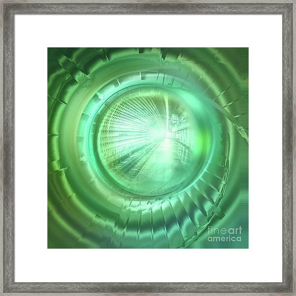 Journey In Green Framed Print