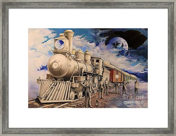 Journey Through The Mists Of Time Framed Print