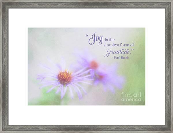 Joy And Gratitude For All Seasons Framed Print