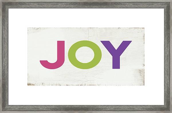 Joy In Color- Art By Linda Woods Framed Print