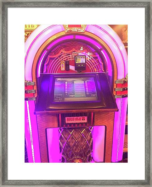 Jukebox Hero Framed Print