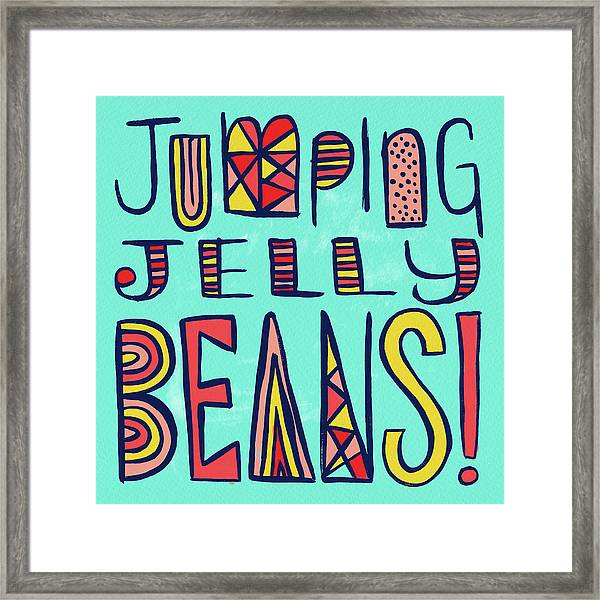 Jumping Jelly Beans Framed Print