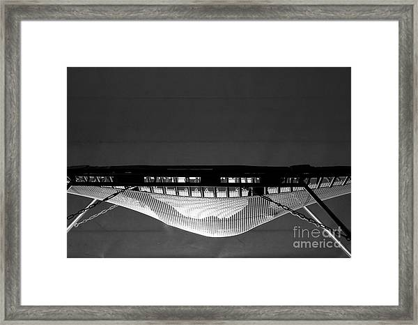 Jumping On Trampoline Framed Print