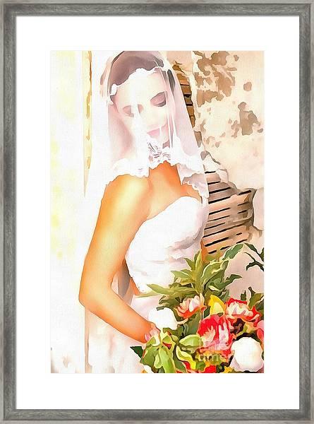 June Bride Framed Print