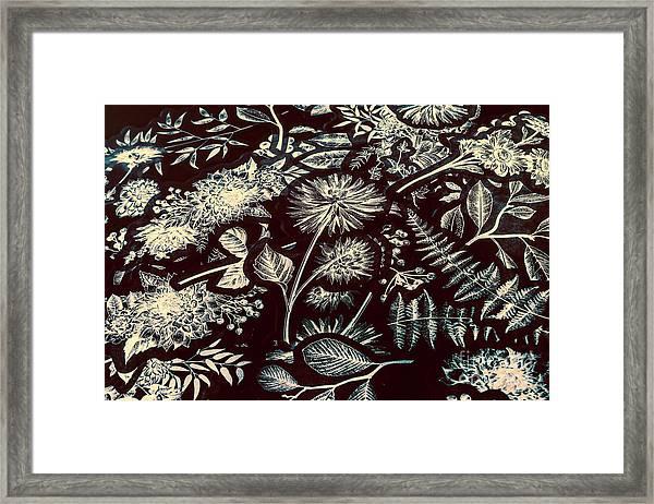 Jungle Flatlay Framed Print